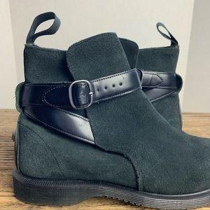 Dr. Martens Teresa Black Suede Ankle Boots